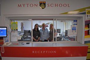 Myton School Reception staff