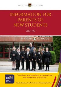Front cover - new parents' booklet 2021-22