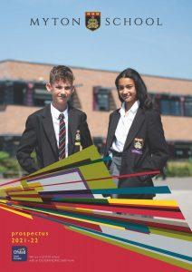 Front cover of school prospectus